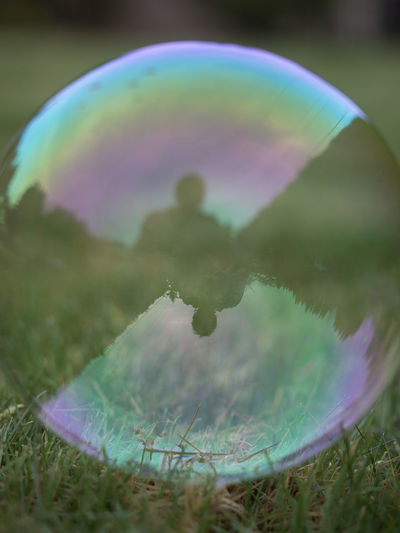 Beauty In Nature Bubble Bubble Wand Close-up Day Fragility Grass Growth Nature No People Outdoors