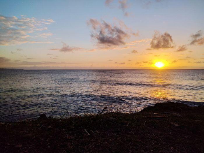 The sun is drowning Sunset Ocean Horizon Puerto Rico