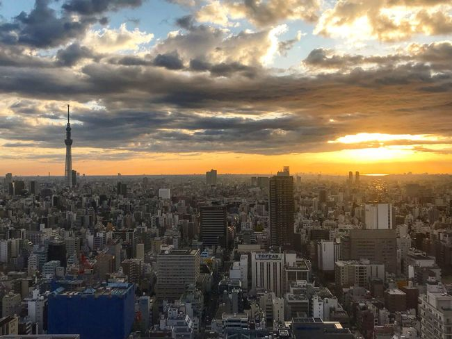 Cityscape Architecture Sunset Building Exterior City Skyscraper Cloud - Sky Sky Built Structure No People Travel Destinations Modern Outdoors Urban Skyline Day Breaking Dawn View From The Room Bedroom 秋葉原 Akihabara Tokyo,Japan Sky Tree
