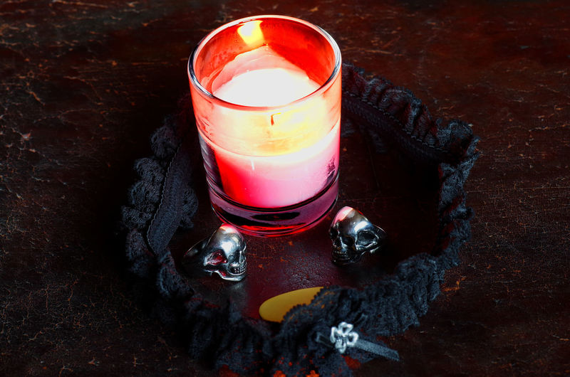 Accesories Candle Close-up Flame Glass Illuminated Indoors  No People Skull Rings Wax