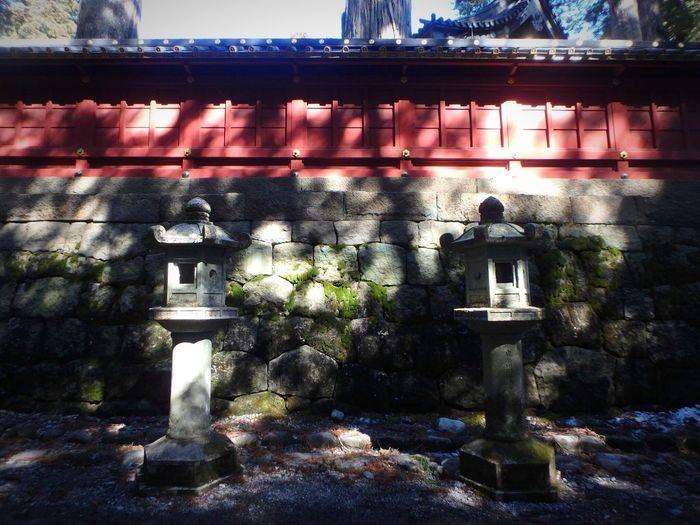 """Nikko Japan 灯篭 Japanese traditional lighting equipment """"tourou""""."""