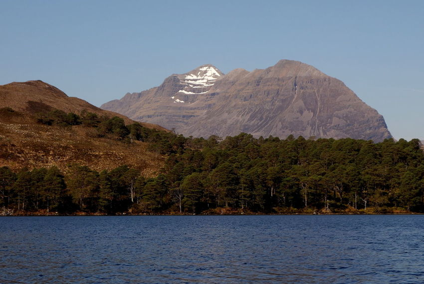 Beauty In Nature Clear Sky Day Lake Landscape Mountain Mountain Range Nature No People Outdoors Range Scenery Scenics Sky Torridon Mountains Tranquil Scene Tranquility Tree Water Wilderness