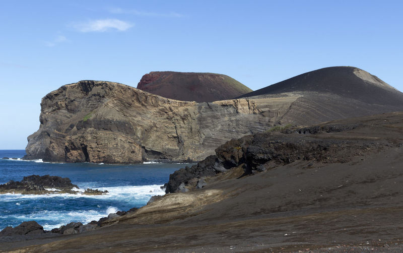 Azores Faial Lost In The Landscape The Week On EyeEm Vulcan Capelinhos Beauty In Nature Capelinhos Clear Sky Day Mountain Nature No People Outdoors Rock - Object Rock Formation Scenics Sea Sky Tranquil Scene Tranquility Vulvanic Landscape