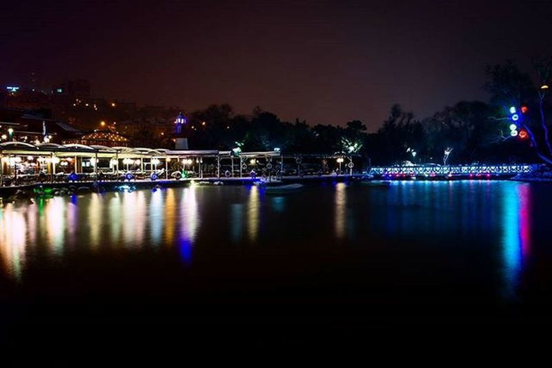 Lake Reflections Waterreflection Lights City Colorful Canon Bahcesehir Golet Night