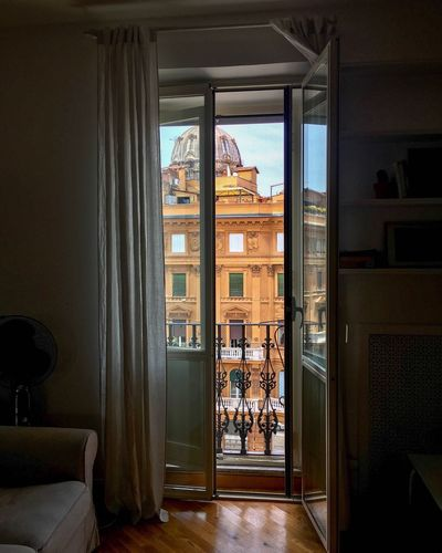 Indoors  Home Interior Window Door Home Showcase Interior Domestic Room Architecture Luxury Doorway No People Day Living Room Built Structure Curtain Open Door Looking Through Window Travel Travel Photography Roma Italy Rome EyeEm Best Shots Your Ticket To Europe Moving Around Rome