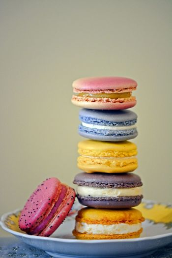 Macarons (not Macaroons) EyeEmNewHere Cookies Macarons Macaroons Close-up Dessert Food Food And Drink French Food Freshness Indulgence Multi Colored No People Purple Ready-to-eat Stack Studio Shot Sweet Sweet Food Temptation Variation Yellow EyeEmNewHere