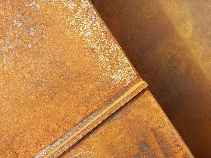 Corten Steel Textured  Backgrounds Full Frame No People Brown Close-up Day Outdoors Orange Steel Structure