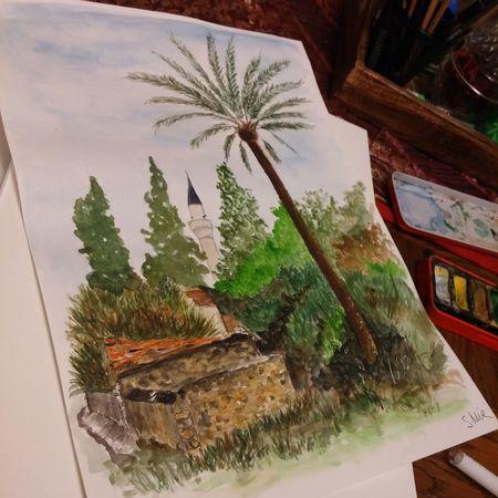 Lefke,Cyprus Art Lefke Myartwork Watercolor MyArt ArtWork Painting Cyprus Northern Cyprus