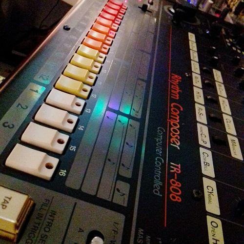 Roland 808 808  Roland Drummachine Vintage Vintage Drummachine Music High Angle View Close-up First Eyeem Photo