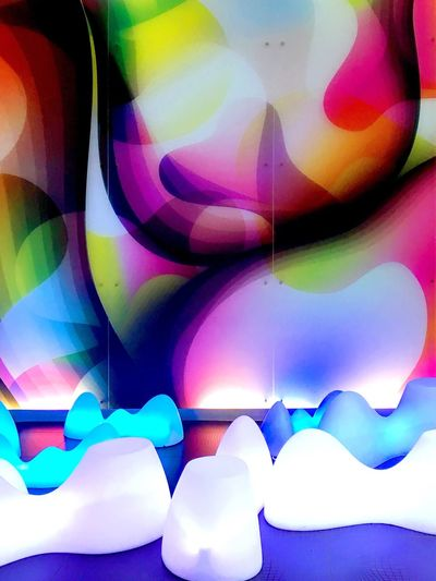 space_seats. Interior Design Interior Seats Chairs Light Space Modern Art Is Everywhere Architecture Architecture_collection Arrangement Multi Colored Abstract Creativity Pattern No People Close-up Backgrounds Nhow Berlin Indoors  Colorful Lights Light And Shadow Indoors  Abstractions In Colors