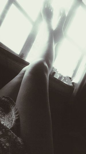 Sexylegs Relaxing Blackandwhite Lazysunday Legs Light And Shadow Woman Portrait Out Of The Window home sweet home ^^