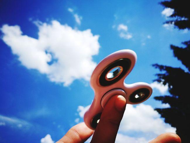 Hand Spinner Human Hand Cloud - Sky Sky