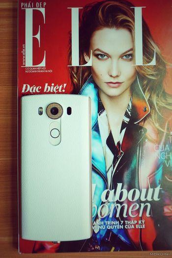 Kalie Kloss & ELLE Devices Elle Magazine Hitech Kalie Kloss LG  Magazine Cover Mobile V10