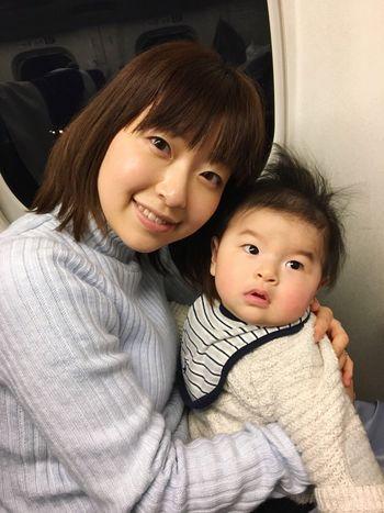 おとなしくしてお利口さん👩👦👶🏻✨ Baby Boy Shinkansen Mother&son Mysweetbaby