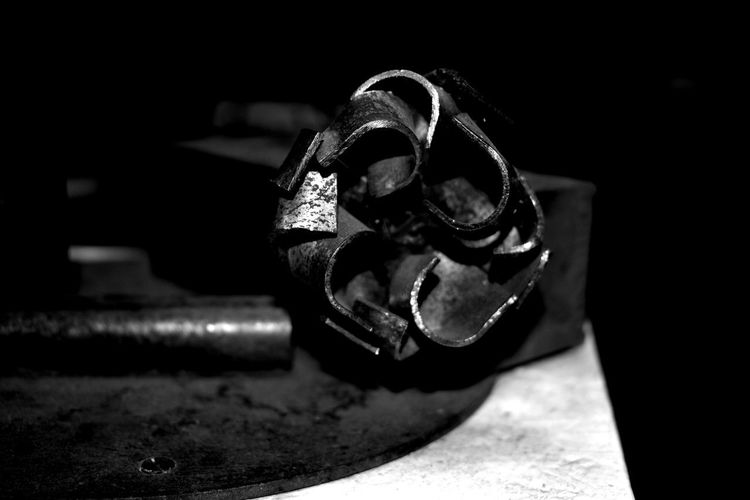 Art Black And White Close-up Flower Focus On Foreground Indoors  Metal Metal Flower Metal Industry No People 10