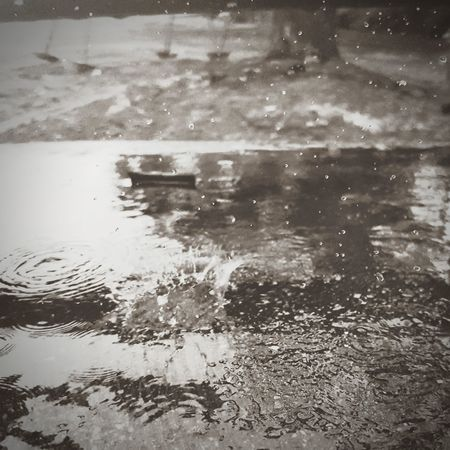 Rain Drops Water No People Nature Outdoors Mobile Photography EyeEmNewHere Rain Rain Drop Reflection Day Full Frame Lake Backgrounds Beauty In Nature Close-up Sky