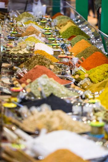 Spicy Food Variation Choice Multi Colored Travel Destinations One Woman Only Market Stall Adults Only Indoors  Close-up Only Women One Person People Adult Day Spices