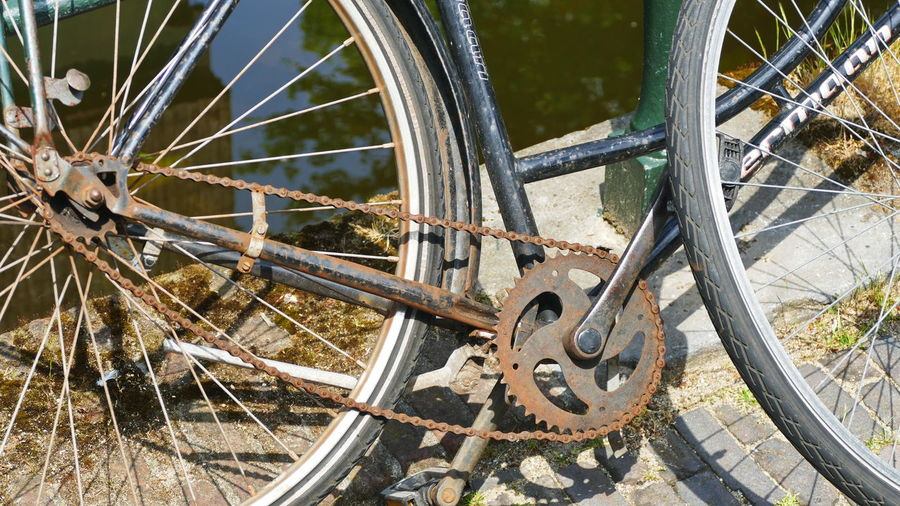 scrap bike Abandoned Bicycle Day Gear Land Land Vehicle Metal Mode Of Transportation No People Obsolete Outdoors Pedal Rusty Rusty Bicycle Scrap Bike Stationary Tire Transportation Travel Wagon Wheel Wheel