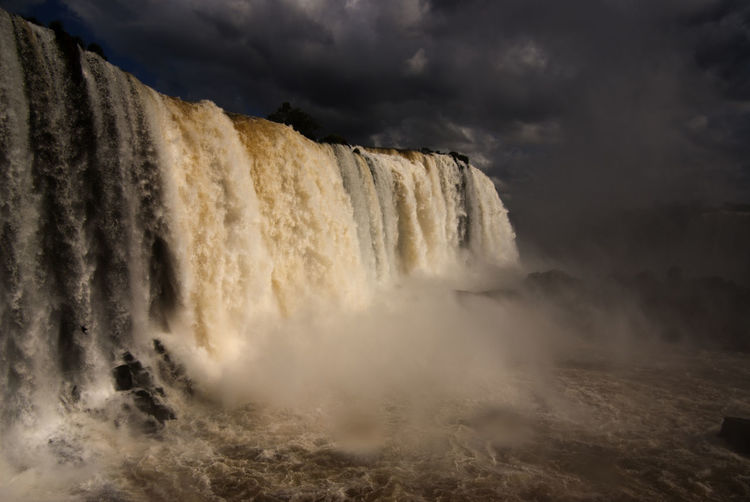 Brazil Natural Wonders Of The World Tourist Attraction  World Heritage Site Beauty In Nature Cloud - Sky Falling Water Flowing Flowing Water Iguazu Falls Nature Non-urban Scene Outdoors Power In Nature Scenics - Nature South America Travel Destinations Water Waterfall