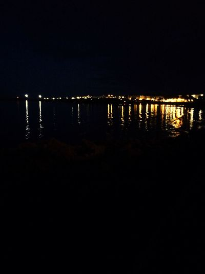 Nightphotography Water Reflections Citylights