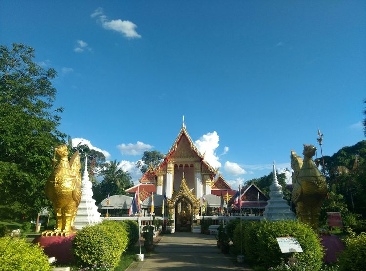 Nice Day Clearsky Bangkok Thailand. Temple View Landscape