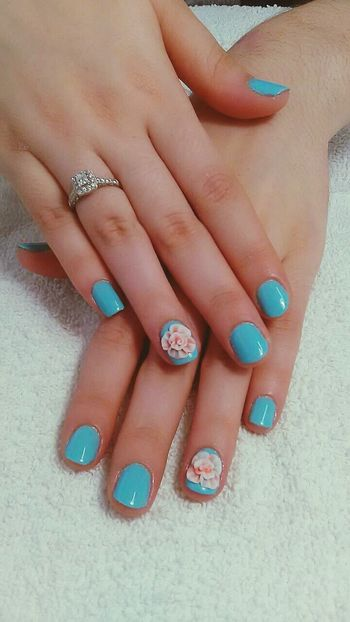 Nailart  Nails Shortnails NaturalNails Aqua Miami Uñas