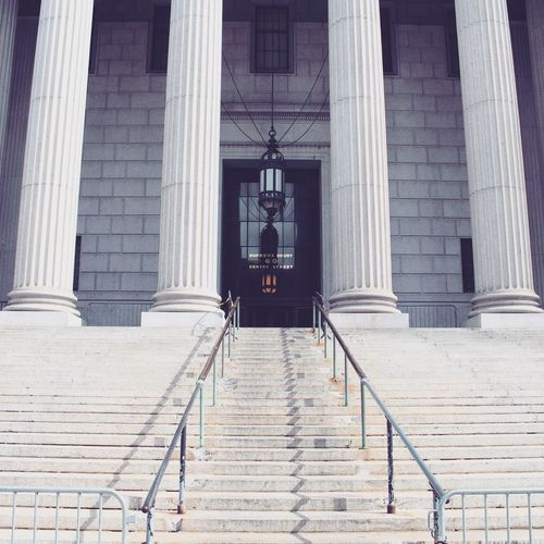 Low Angle View Of Steps Leading Towards Supreme Court