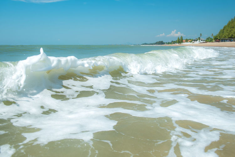 Sea waves for the background Water Sea Beauty In Nature Motion Sky Wave Scenics - Nature Aquatic Sport Surfing Waterfront Horizon Over Water Nature Beach Sport Horizon Day Land Clear Sky Outdoors Power In Nature Flowing Water