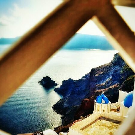Santorini Greece Sea Blue Sky Chirch Life In Colors Colorful White Light And Shadow