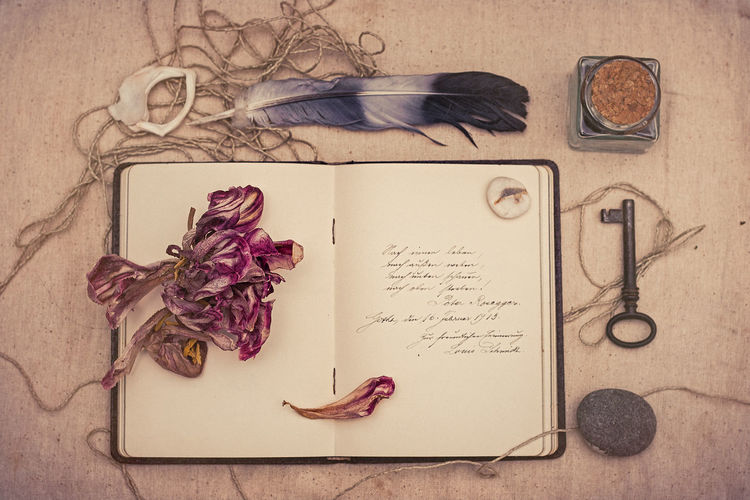 Beauty In Nature Book Books Good Wishes Grandma Handwriting  In The Olden Day Key Memories No People Nostalgic  Page Postcard Quality Time Still Life Vertical Vintage
