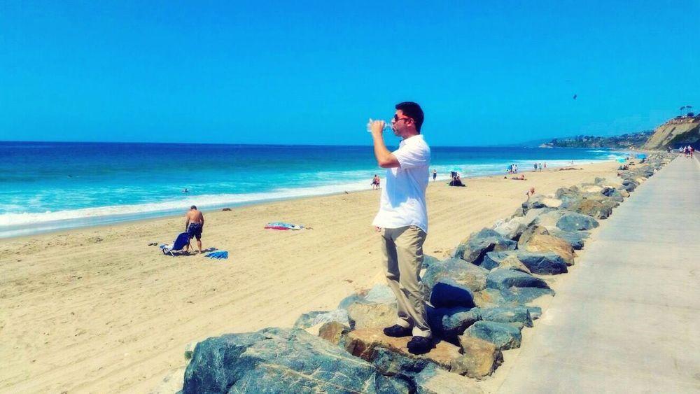 That's Me! Drinking Water Beach Enjoying Life Dana Point, Ca Enjoying The Sun Sunny Day Sunny