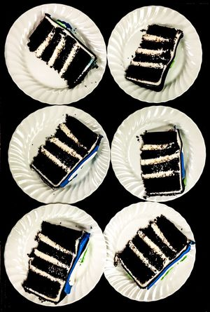 Arrangement Black Background Cake Chocolate And Vanilla Chocolate Cake By The Slice Cakes Dessert Geometric Shape High Angle View EyeEm EyeEm Gallery Layer Cake Layercake No People Order Pattern Plates Repetition Shape Side By Side SLICE Slicesofcake Still Life Sweets Food Stories