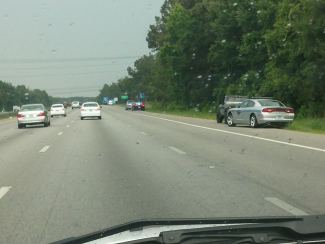 Pulled Over Police Bluelights they are out hot and heavy today. 3 cars pulled back to back to back.