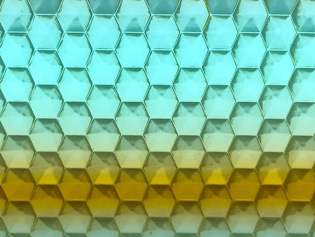 Colors and patterns Pattern Backgrounds Full Frame Close-up Blue Geometric Shape Repetition Hexagonal Hexagon Orange Color Multi Colored Abstract TakeoverContrast Yellow Color Maximum Closeness