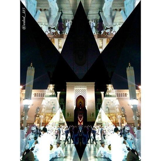 Edited by the D3lta App . At the Prophet MUHAMMAD Holy mosque MasjidNabawi. madina medina madinah SaudiArabia saudi_arabia. Taken by my LG Nexus5. المدينة_المنورة المدينة السعودية الحرم مسجد النبوي الشريف