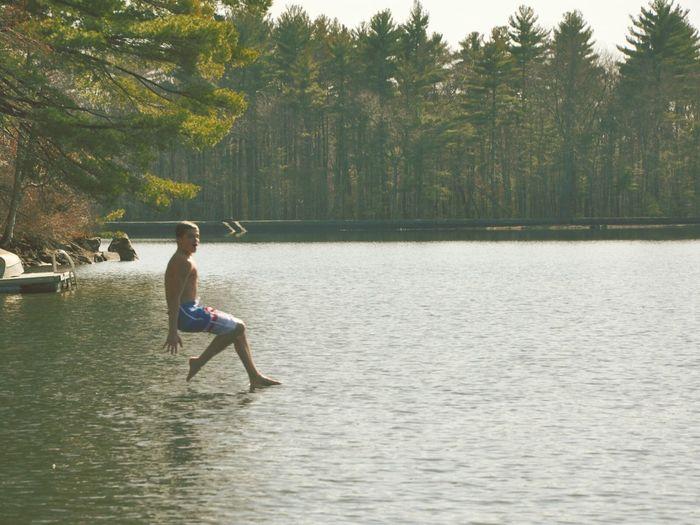 Fresh On Eyeem  End Of Summer Jumpshot Jump Mid Air Motion Action Lake Massachusetts New England  Hopkinton Dock Tones Lake Life Teenager Enjoying Life Autumn Colors Walking On Water Walkingonair Teen Freeze The Color Of Sport
