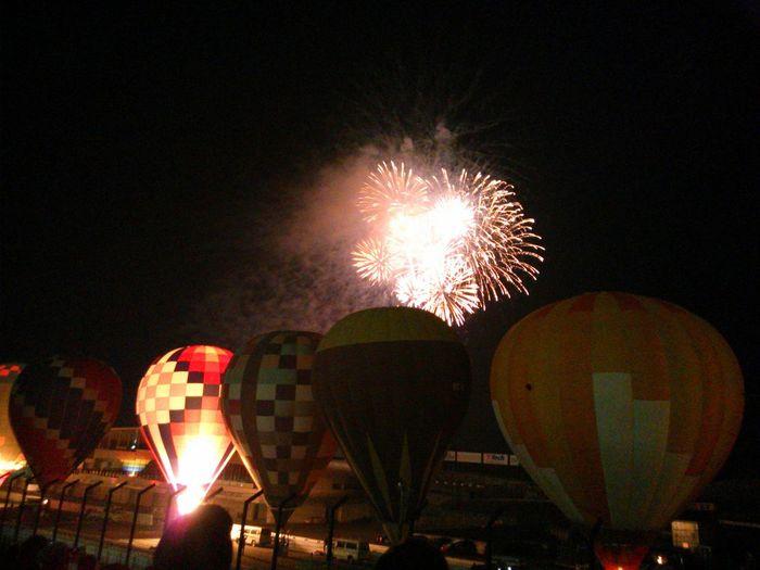 もういっちょ。花火付き。 Suzuka Circuit Balloon Festival 2015