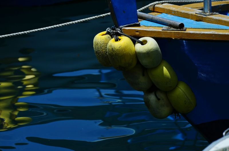 Buoys Attached To Rope
