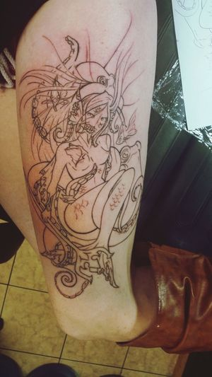 New ink, coloring coming soon. Such a beauty. ♡ Getting Inked