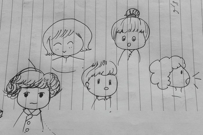 Nothingtodo Drawing DrawSomething Niallhoran Niall Harrystyles Hazza ♥ Blackandwhite Chibi One Direction