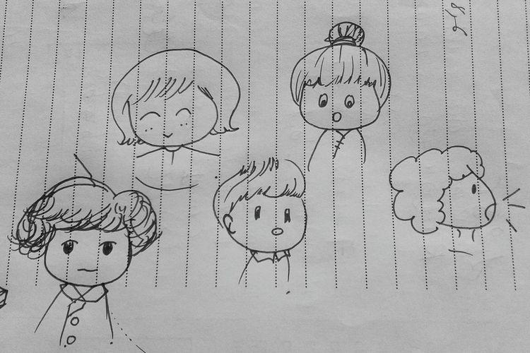 Nothingtodo Drawing DrawSomething Niallhoran Niall Harrystyles Hazza ♥ Blackandwhite Chibi One Direction