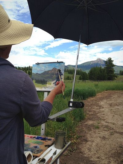 The Artist One Person Real People Day Cloud - Sky Sky Nature Outdoors Adult People Artist Woman Female Artist Landscape Landscape Artist Painter Plein Air Colors Colorado Colorful Colorado Mountain EyeEmNewHere Lost In The Landscape