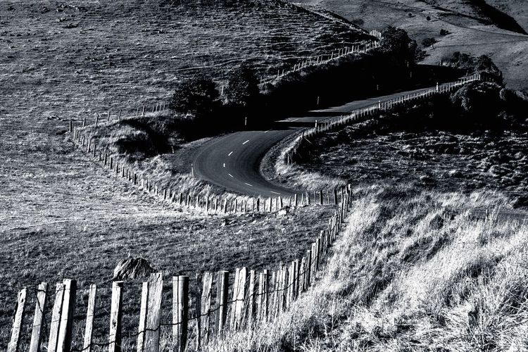 Blackandwhite Photography Blackandwhite S Curve Curve Road Road Nature Pattern No People Day Full Frame Backgrounds High Angle View