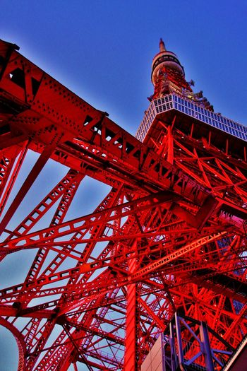 Tokyo tower,JAPAN Architecture Canon EOS 7D Mark II EyeEm Japan Japan Photography Japan Scenery Japanese  Japanese Culture Japanese Style Metal Photo Photostock Red Relaxing Sky Sunset Taking Photos Tokyo Tokyo Tower Tokyo,Japan Tower