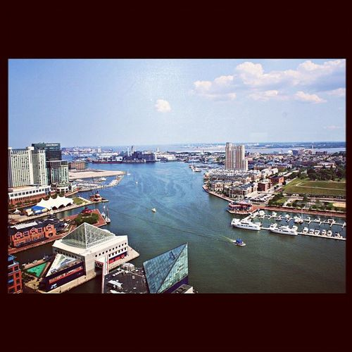 Beautiful Baltimore harbor from the top of the world trade centre AGphotography Baltimore Bestexperienceofmylife Canon