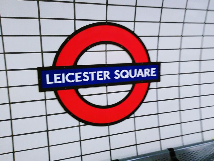 London Roundel Transport Underground Train Leicester Square Commuting Tiles Round
