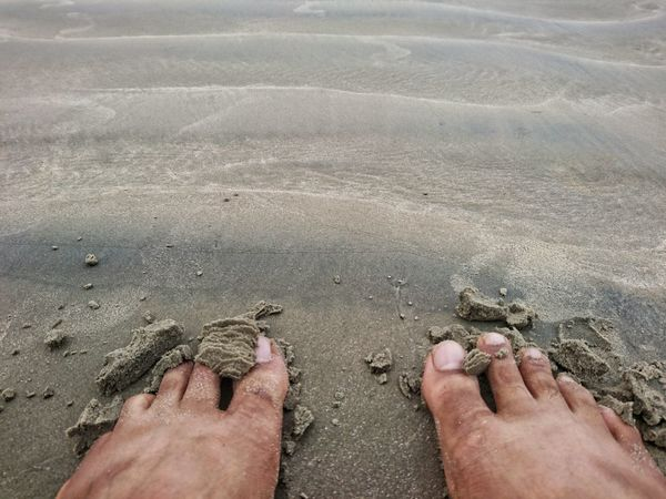 Beach Sand Barefoot Human Leg Shore Low Section Human Foot Personal Perspective Human Body Part Sea Real People Day Vacations Leisure Activity Outdoors High Angle View Nature Water Two People Summer XperiaZ5 Sony Xperia Mobile Phone Photography Mobiography Xperıa