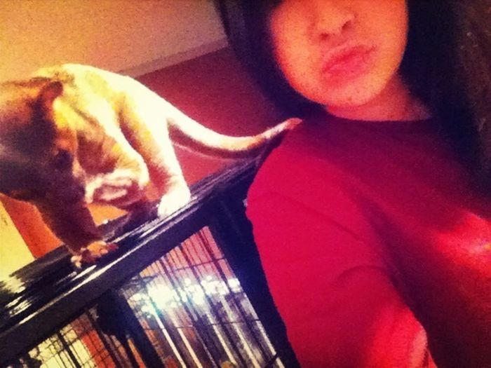Goodnight from me and my monkeyyy rocko