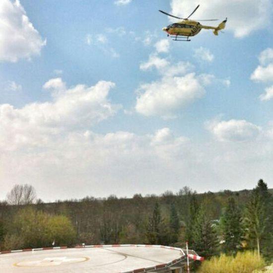 ADAC Helicopter Hubschrauber  Krankenhaus hospital rescue emergency accident