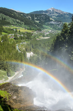 Krimml Waterfalls, Austria Austria Beauty In Nature Day Double Rainbow Environment Flowing Water Green Color Idyllic Krimml Krimml Waterfalls Landscape Mountain Nature No People Non-urban Scene Outdoors Plant Rainbow Rainbow🌈 Scenics - Nature Sky Tranquil Scene Tranquility Tree Water